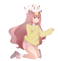 Bee and Puppycat by OrenjiiBUTT