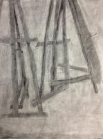 Easels in the Negative by LullaNonseSong
