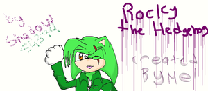 Me drawing My Sonic-Style OC Rocky by shadow54379