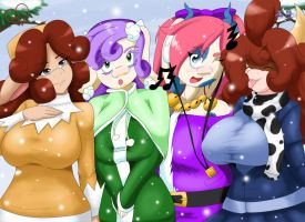 Winter Bovines by SpeedyHimura