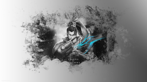 Yasuo Black White Blue Wallpaper UF (1920x1080) by yudiyannovaera