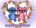 Happy Birthday from Stitch and Angel by SunsetMajka626