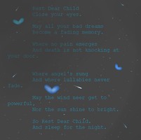 Rest Dear Child-Poem by Vitae-Faerie