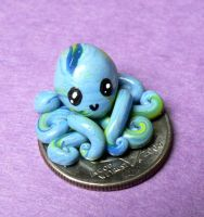 Octopus on a Dime by BlackMagdalena