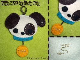 Puppy Max Keychain by Marki-san-Design