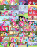 PinkieDash/RainbowPie Collage by Cookie-Dough-Batter