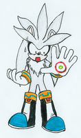 500CC-261: Silver the Hedgehog by Hyliaman