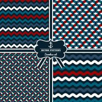 4 Retro Pattern Seamless Background Vector by FreeIconsdownload