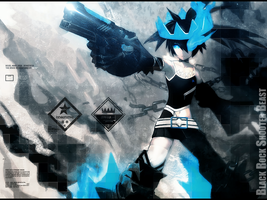 Wallpaper Black Rock Shooter by MarceloPinheiro