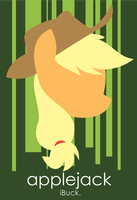 Applejack iPhone Wallpaper by anonymousnekodos