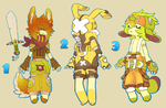 assorted adoptables set 1 (closed) by HJeojeo