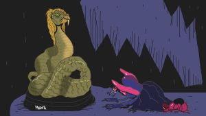Snake god by Makinita