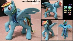 Sculpture: Rainbow Dash (MLP) by Anniasha