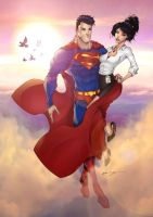 Superman and Lois by Patrick-Hennings