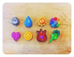 Pokemon Kanto badge set by SavannahFaerie