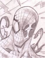 SpiderMan Sketch Shot by StevenSanchez