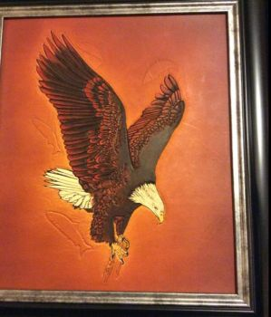 True Power- Leather Carving/Painting by Altitude-Artisan