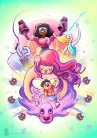 Crystal Gems (Steven Universe fanart) by tropicalraccoon