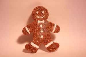 Resin Gingerbread Man by blackheart58