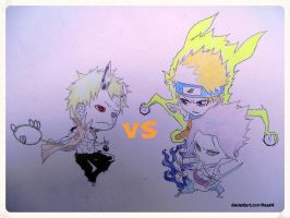 Chibi: Sage of Six Paths (?!) Vs Naruto and Sasuke by lkaashl
