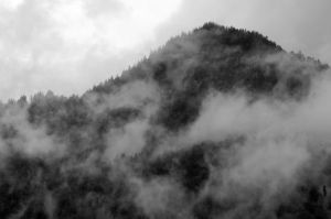 Cloud cover in the Alps by ItsAGoodDayBob