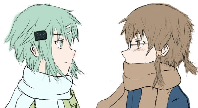 Simple Sinon and Shino by Crysant21
