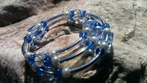 Blue Glass, Square Beads, Circle Beads Memory by Rini-Dragoone