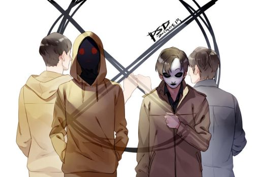 Marble Hornets-Hoody and Masky by PSlenDy