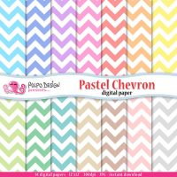 Pastel chevron digital papers by PolpoDesign