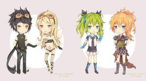 COM Chibi Batch1 by Miss-Ariellia