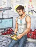 Tony Stark by SpeedyDaMechanic