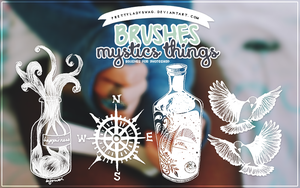 Mystics Things Brushes by PrettyLadySwag