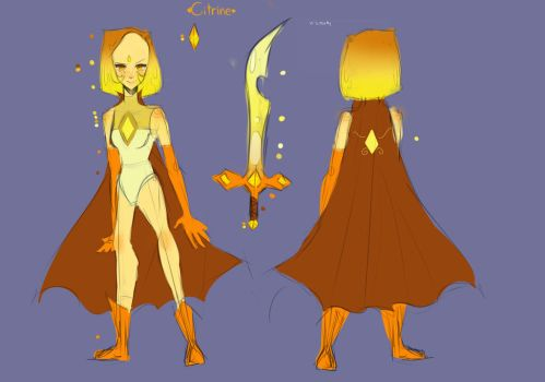 OC Citrine refrence sheet by xlemany