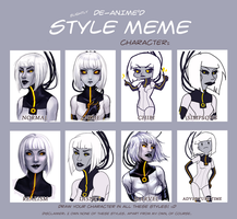 Style Meme with Android GLaDOS by TwinklePowderySnow