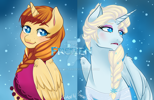 .Frozen sisters. by Kikuri-Tan