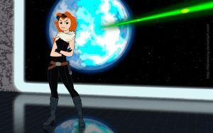 Kim Possible as Mara Jade by FitzOblong