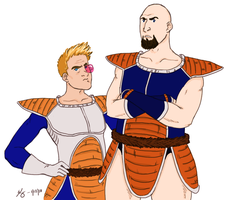 WWE's Vegeta and Nappa by KellyDawn