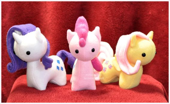 MLP - Itsy-Pony Plush - Three Tiny Ladies by mihoyonagi