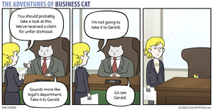 The Adventures of Business Cat - Legal by tomfonder