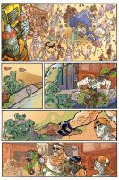 BULLET N'CUT page 1 with color by Guibz-comics
