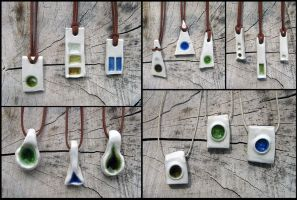 Recycled Glass Pendants by Verdego