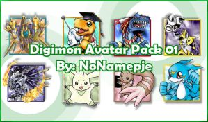 Digimon Avatar Pack 01 by NoNamepje