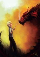 Amanda and the dragon by malkav1989