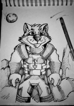Rocket racoon ink by theKatandtheBox