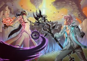 Aion Commission - Asteria Siege by rextheone