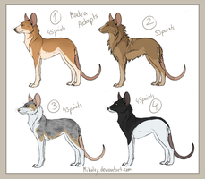 Madra Adoptables XVIII by Mikaley