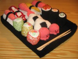 Amigurumi Sushi Box by Erysne