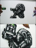 Super Metroid statue bead sprite by 8bitcraft