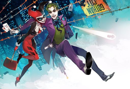 Joker and Harley by fayrenpickpocket