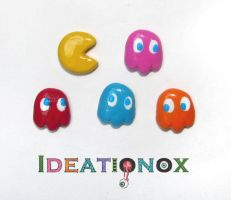 PAC-MAN Earring Set by Ideationox